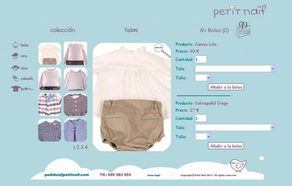 Diseño tienda ropa bebes v1