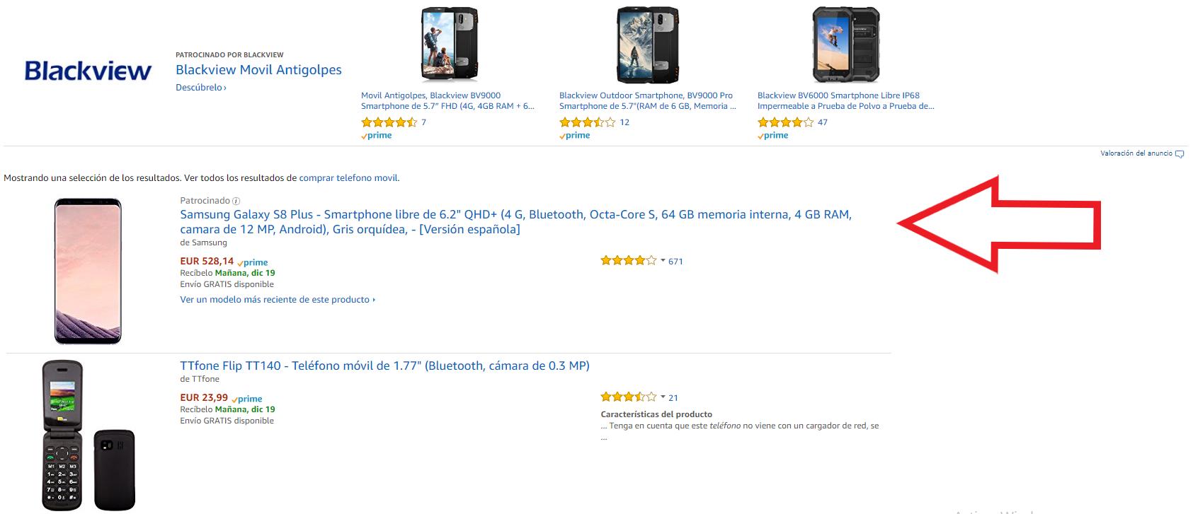 Producto patrocinado publicidad Amazon
